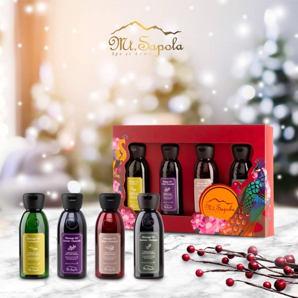 4x65ml Massage Oils Gift Set