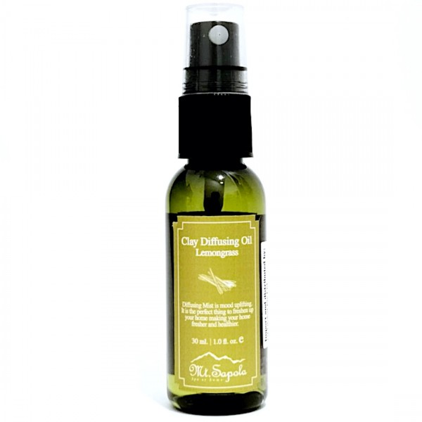 Clay Diffusing Oil, Lemongrass, 30ml.