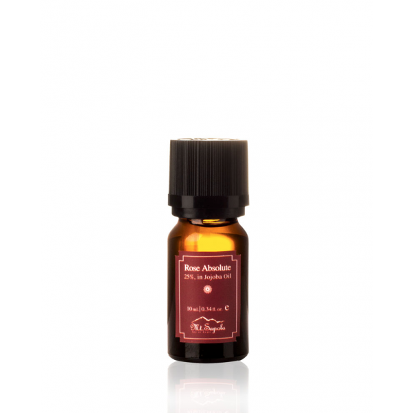 Rose Absolute, 25%, in Jojoba Oil, 10ml.