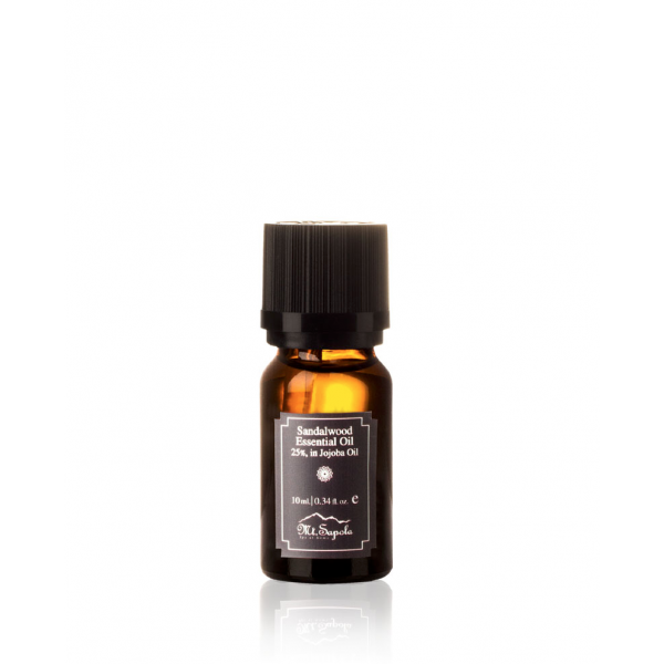 Sandalwood Essential Oil, 25%, in Jojoba Oil, 10ml.